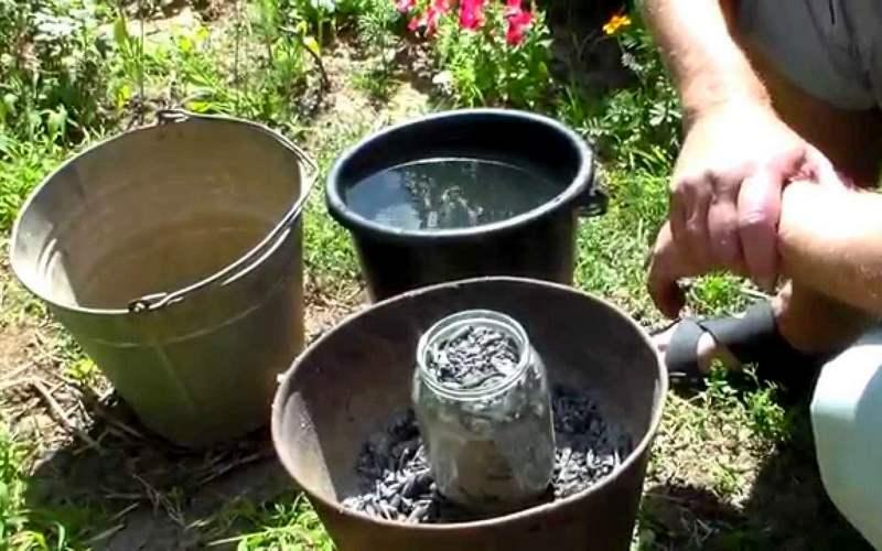 Как сделать щелок из золы
